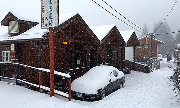 冬天下雪雪景