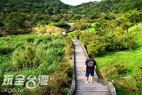 到了春天,這裡會出現一排粉紅櫻樹/玩全台灣旅遊網特約記者奈奈攝