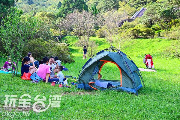 帶一頂外出帳,來個家庭野餐吧!/玩全台灣旅遊網特約記者奈奈攝
