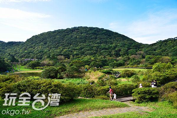 公園內的環狀步道,在制高點能俯瞰公園大部份的景貌/玩全台灣旅遊網特約記者奈奈攝