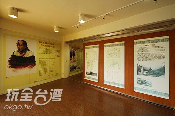 館內有詳細的平面解說,說明這段難以抹滅的歷史/玩全台灣旅遊網攝
