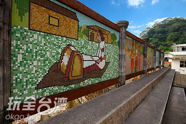 居民織布的馬賽克拼貼/玩全台灣旅遊網攝