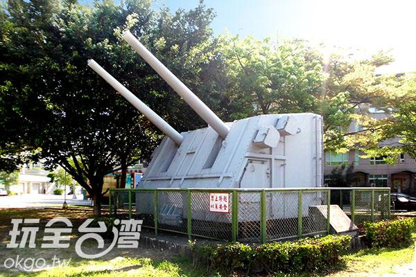 曾經裝在開陽艦上的5吋砲/玩全台灣旅遊網特約記者楊昌林攝