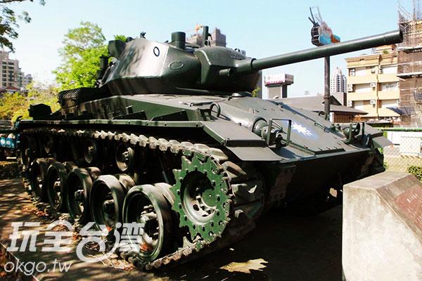 M24輕型戰車/玩全台灣旅遊網特約記者楊昌林攝
