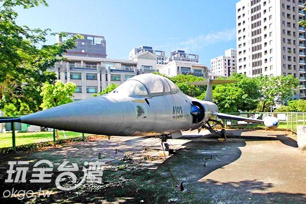 F-104G星式戰鬥機在台灣又有「空中棺材」之稱/玩全台灣旅遊網特約記者楊昌林攝