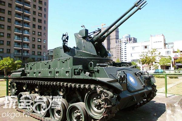 M42雙管防空砲車/玩全台灣旅遊網特約記者楊昌林攝
