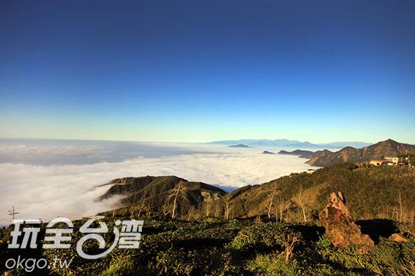 捲捲白雲看起來非常鬆軟/玩全台灣旅遊網攝