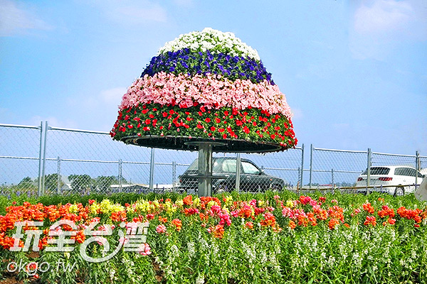 美麗的花傘/玩全台灣旅遊網特約記者楊昌林攝