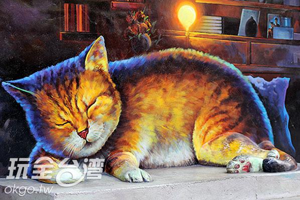哇,貓腳已經突出牆面了啊!/玩全台灣旅遊網攝