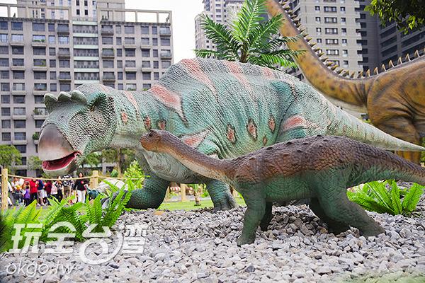 和遊客對比之下,恐龍更顯巨大/特約記者陳健安攝