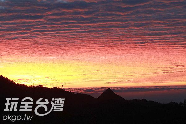 大雪山的夕陽非常美/特約記者楊昌林攝