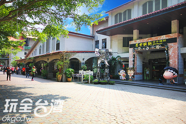 寬敞的信義農會酒莊建築有著歐式風味/玩全台灣旅遊網攝