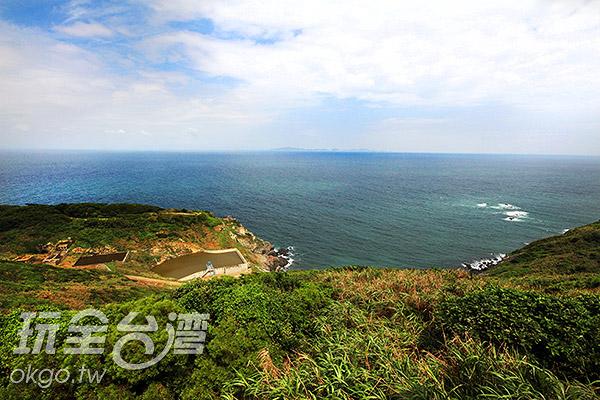 由西莒高處眺望整個海景讓人感到心曠神怡/玩全台灣旅遊網攝