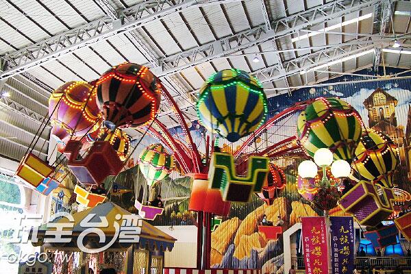 九族內擁有許多大小皆宜的遊樂設施/玩全台灣旅遊網攝