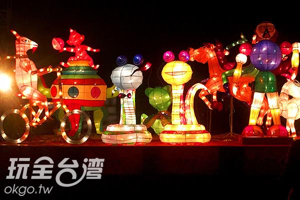 花燈們努力地綻放光芒,希望帶給遊客一個美麗的回憶/阿湖先生提供
