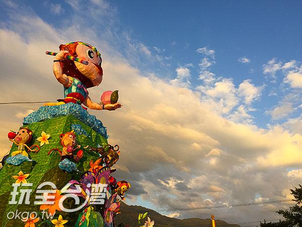 南投燈會主燈以美猴王-孫悟空為主題/玩全台灣旅遊網攝