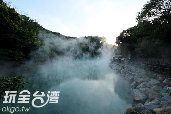新北市北投區地熱谷熱氣陣陣/玩全台灣旅遊網攝