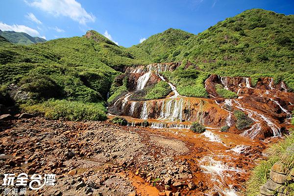 新北市瑞芳區-黃金瀑布/玩全台灣旅遊網攝