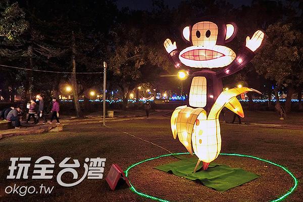 猴年花燈,少不了香蕉/玩全台灣旅遊網特約記者陳健安攝
