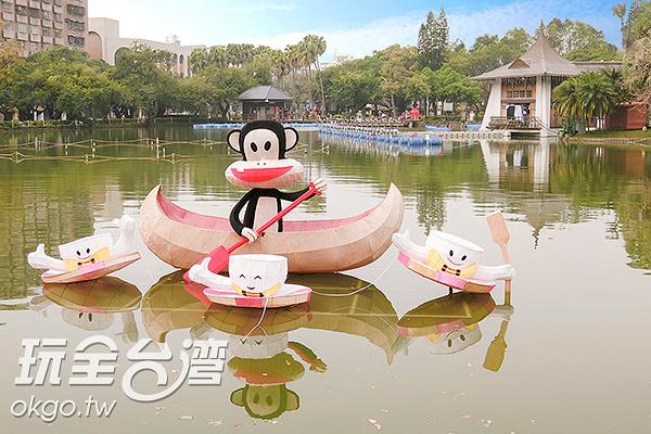 不少花燈都搭配地景設計/玩全台灣旅遊網特約記者陳健安攝