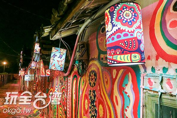 彩虹爺爺風格的燈籠,非常討喜/玩全台灣旅遊網特約記者陳健安攝