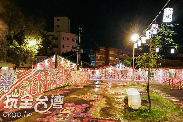 燈籠配上彩繪,宛如童話世界/玩全台灣旅遊網特約記者陳健安攝