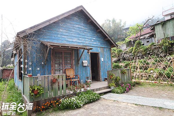 宛若歐洲鄉間小木屋般的造景/玩全台灣旅遊網攝