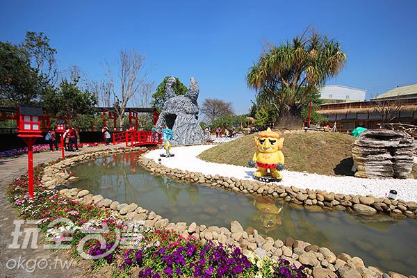 可愛的妖怪加上日式庭園風格和建築,格外獨特/玩全台灣旅遊網攝