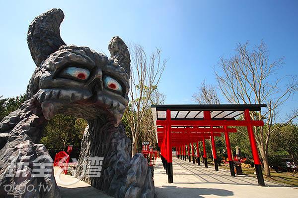2016農曆年前開幕的桃太郎村掀起一波追風熱潮/玩全台灣旅遊網攝
