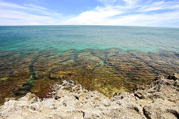 小琉球四周圍繞著各種珊瑚礁/玩全台灣旅遊網特約記者陳健安攝