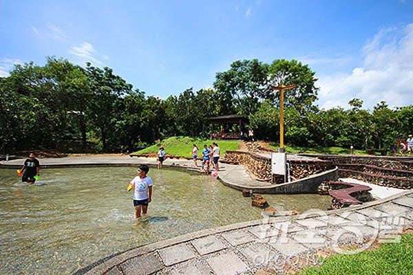 桃米村有著復育良好的自然生態環境和潔淨的水源,遊客可以安心遊玩/玩全台灣旅遊網攝