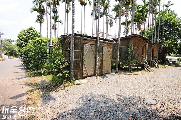 檳榔樹屋為飛行傘教練結合當地特色所建而成/玩全台灣旅遊網攝