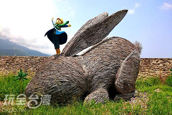 幾米作品-毛毛兔/玩全台灣旅遊網特約記者蔡忻容攝