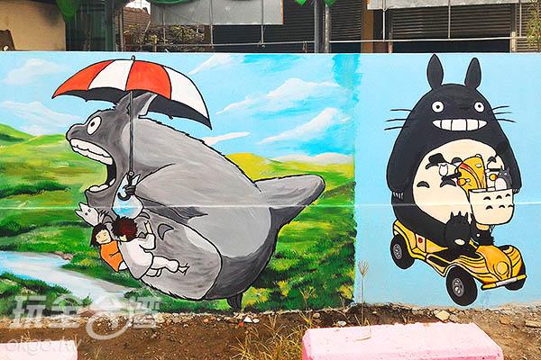 龍貓不但會飛還會騎車耶~太可愛了/玩全台灣旅遊網攝
