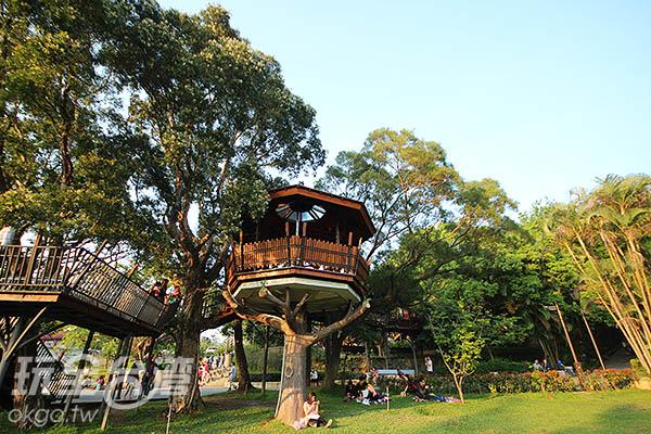 巨大的樹屋是這裡的主要特點/玩全台灣旅遊網攝