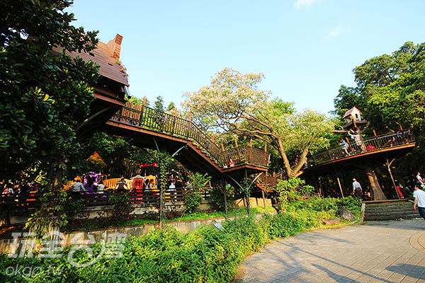 架高的木棧道穿梭在樹木群間/玩全台灣旅遊網攝