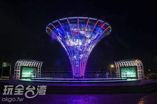 台灣玻璃館新亮點「宇宙塔」/玩全台灣旅遊網特約記者陳健安攝