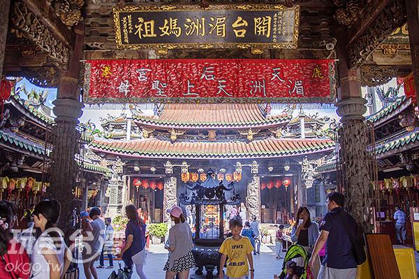 供奉著開台湄洲媽祖/玩全台灣旅遊網特約記者陳健安攝