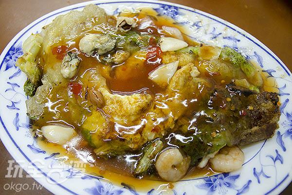 蚵仔、鮮蝦、花枝,一次通通吃的到/玩全台灣旅遊網特約記者陳健安攝