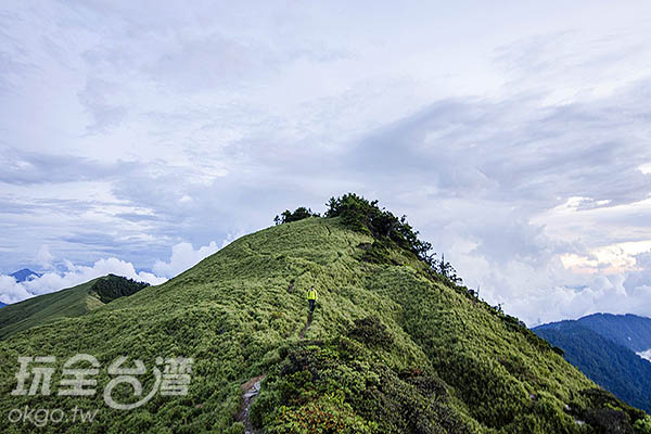 陡峭的山路,步步為營,但卻也美麗至極/玩全台灣旅遊網特約記者陳健安攝