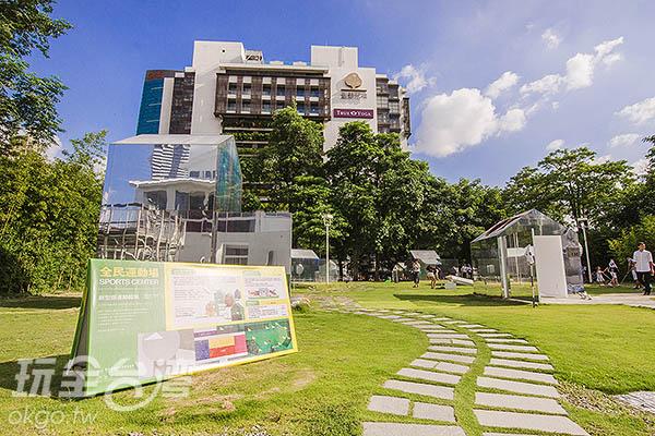 選個愜意午後,來全民運動場運動吧!/玩全台灣旅遊網特約記者陳健安攝