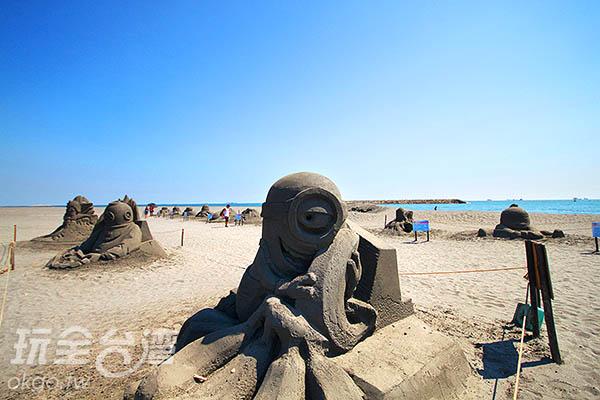 融會各種主題的沙雕藝品令人目不暇給(2015黑沙展)/玩全台灣旅遊網攝