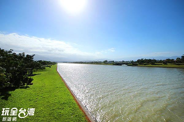 水光在陽光的照射下波光淋漓/玩全台灣旅遊網攝