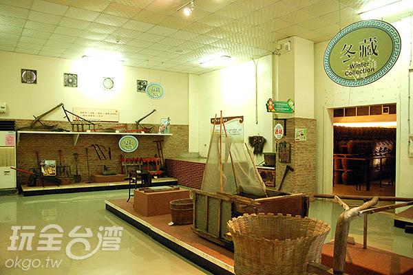 廠內也展出以前使用的釀造器具讓人大開眼界/玩全台灣旅遊網特約記者大賴攝
