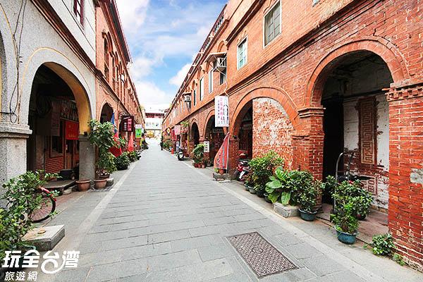古色古香的街道卻具日本大正時期的建築風格/玩全台灣旅遊網攝