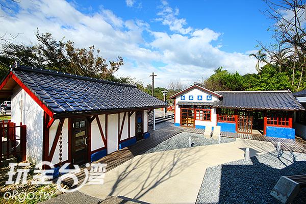 互相呼應的日式建築帶著古典的美感/玩全台灣旅遊網攝