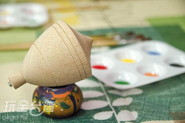 也可以選擇彩繪陀螺/玩全台灣旅遊網特約記者陳健安攝