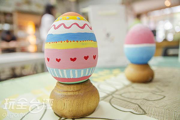 登愣!屬於自己的彩繪蛋完成了!/玩全台灣旅遊網特約記者陳健安攝
