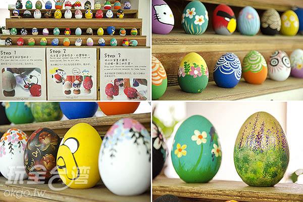 品嘗彩色蛋,也能體驗彩繪雞蛋/玩全台灣旅遊網特約記者陳健安攝