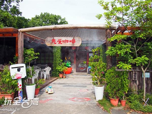 隱身在田園之中的咖啡廳更添一絲特別的氛圍/玩全台灣旅遊網特約記者許志模攝